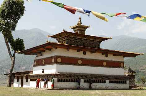 Le temple de Chhimi Lhakhang - Bhoutan -