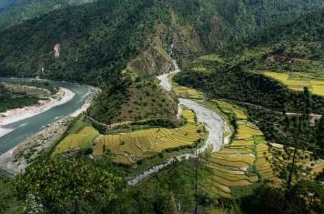 Paysage en direction de Trashigang - Bhoutan -