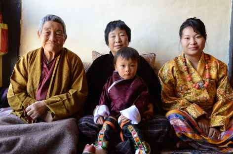 Quatre générations de Bhoutanais - Bhoutan -