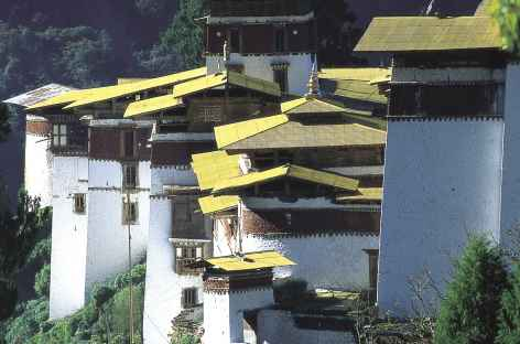 Toits du dzong de Trongsa - Bhoutan -