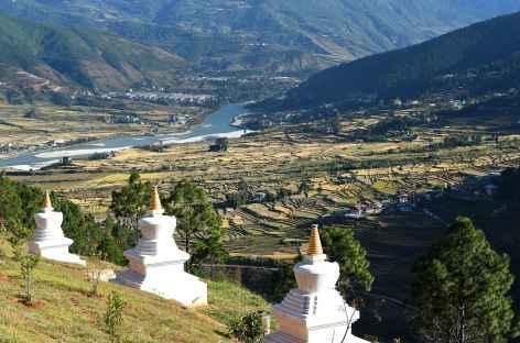 Vallée de Punakha depuis la nonnerie - Bhoutan -