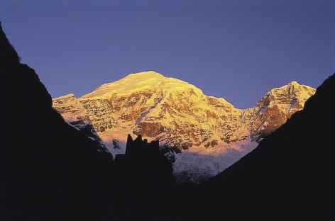 Jomolhari au lever du soleil - Bhoutan -