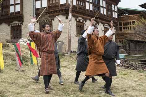 Compétition de tir à l'arc, Bumthang - Bhoutan -