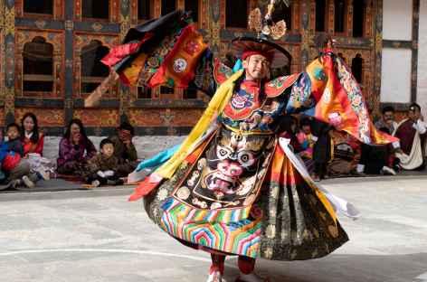 Festival religieux - Danse des chapeaux noirs - - Bhoutan -