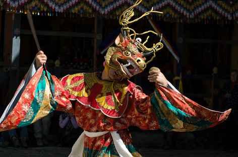 Festival religieux - Danse de Shinje - Bhoutan -