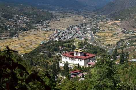 Vallée de Paro avec le dzong - Bhoutan -