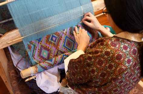 Tissage au musée des Textiles - Thimphu - Bhoutan -