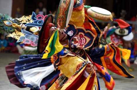 Festival religieux - Danse des chapeaux noirs - Bhoutan -
