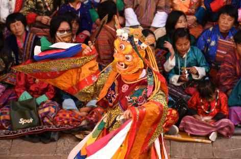 Festival religieux - Danse des divinités terribles - Bhoutan -