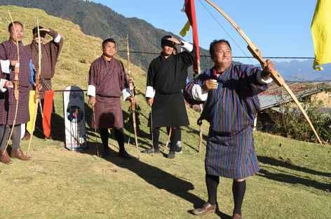 Tir à l'arc - Trashigang - Bhoutan -