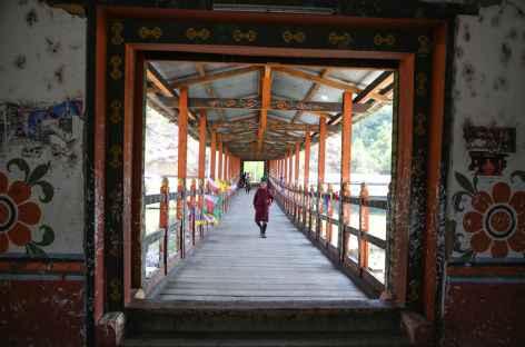 Pont à Thimphu-Bhoutan -