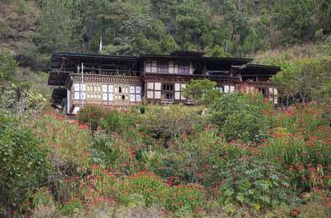Maison traditionnelle Punakha -