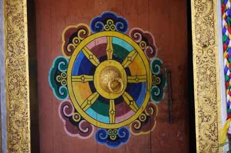 Porte traditionnelle, dzong de Mongar -