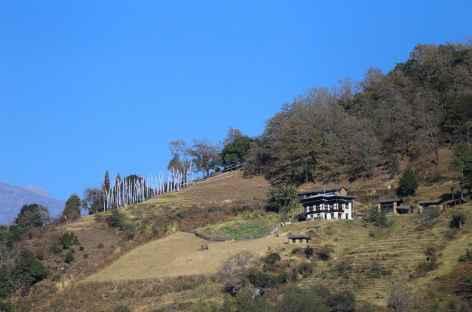 Habitat traditionnel dans la vallée de Bomdeling -