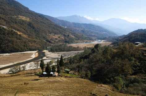 Vue d'ensemble de la vallée vers Bomdeling -