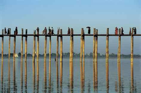 Pont U Bein à Amarapura - Birmanie -