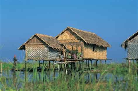 Maisons lacustres sur le lac Inle- Birmanie -