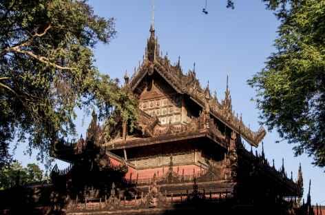 Monastère doré à Mandalay - Birmanie -