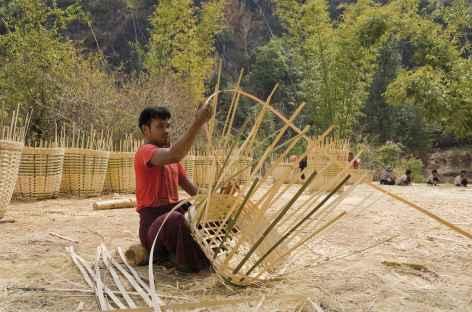 Travail du bambou près de Kalaw - Birmanie -
