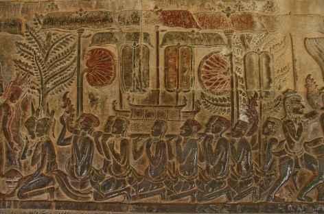 Les exceptionnels bas-reliefs d'Angkor Vat - Cambodge -