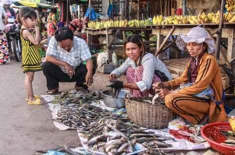 Un marché cambodgien - Cambodge -