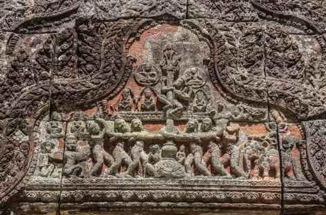 Bas-relief sur le site de Preah Vihear - Cambodge -