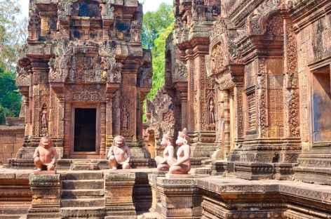 Le site de grès rose de Bantey Srei - Cambodge -