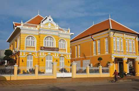 Bâtiments coloniaux de Battambang - Cambodge -