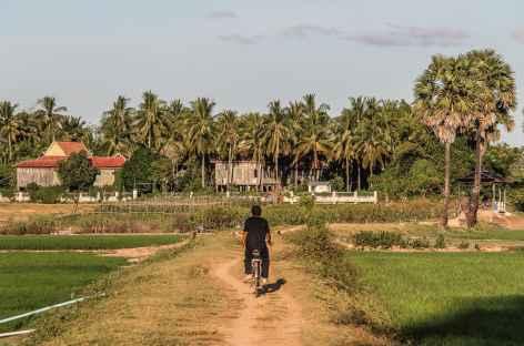 Balade en vélo sur l'île de Koh Trong - Cambodge -