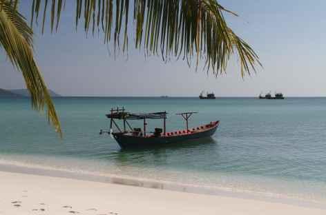 Paysage maritime depuis la plage d'Otres - Cambodge -