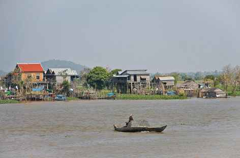 Le Mékong à Kompong Cham - Cambodge -