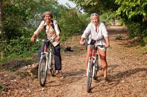 Balade à vélo sur le site d'Angkor - Cambodge -