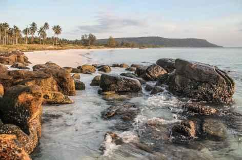 Coucher de soleil sur une île de la Mer de Siam - Cambodge -