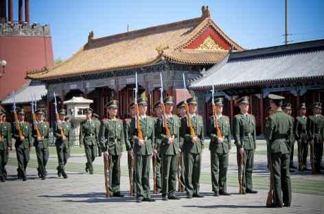 Relève de la garde à la citée interdite - Chine -