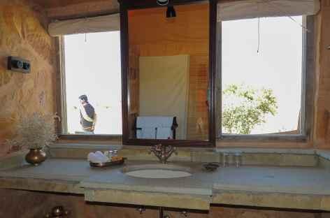 Salle de bains du camp fixe - Rajasthan, Inde -
