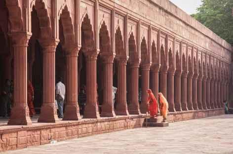 En chemin pour le Taj Mahal, Agra Inde -