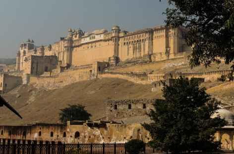L'ensemble colossal de la forteresse d'Amber, Rajasthan, Inde -