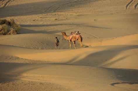 Balade dans les dunes, Rajasthan, Inde  -