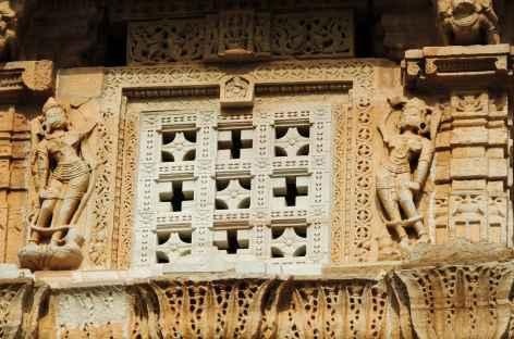 Détail d'architecture de la forteresse de Chittorgarh, Rajasthan -