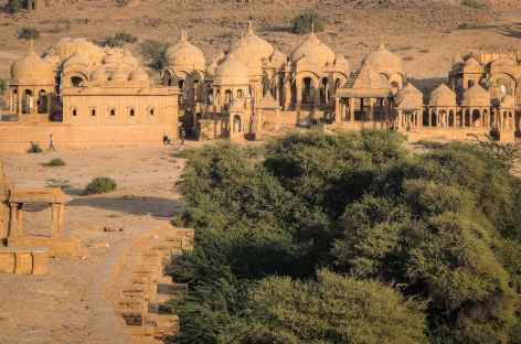 Tombeaux royaux de Bada Bagh, Rajasthan, Inde -