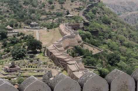 Khumbalgarh déploie 38 km de remparts, Rajasthan, Inde -