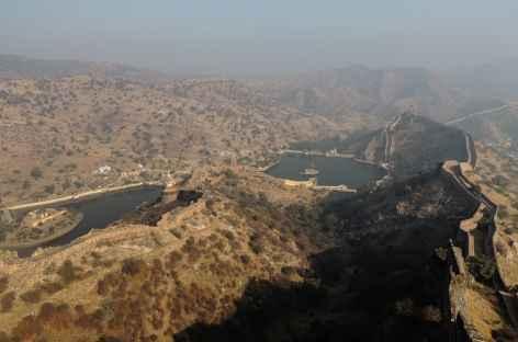 Vue depuis l'ancienne forteresse Jaigarh, Rajasthan, Inde -