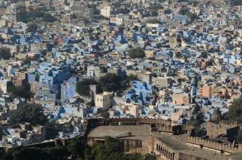 Jodhpur, la ville bleue, vue depuis la forteresse de Mehrangarh -