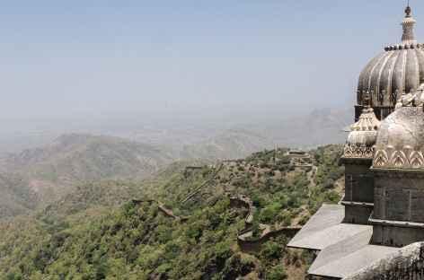 Vue sur la plaine rajpoute depuis Khumbalgarh, Rajasthan, Inde -