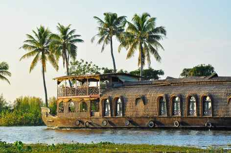Navigation paisible sur les backwaters du Kerala, Inde du Sud -