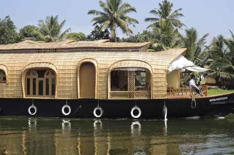 Houseboat sur les canaux du Kerala, Inde du Sud -