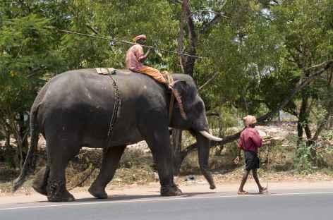 sur la route au Kerala, Inde du sud -