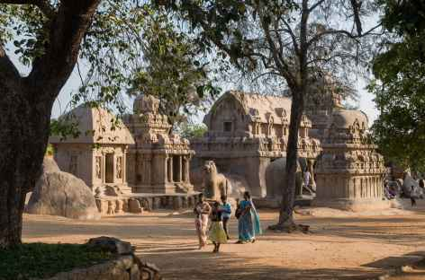 Les temples de Mamallapuram, Inde du Sud -