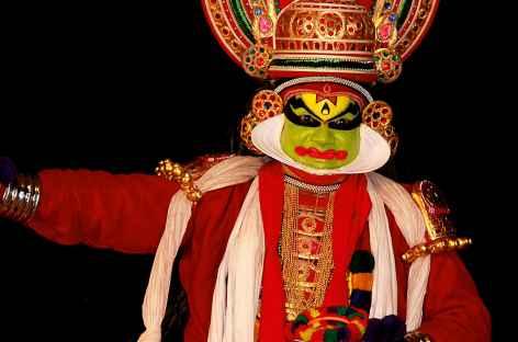 Spectacle de kathakhali, au Kerala, Inde du Sud -