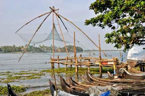 Sur le Lac Vembanad, Inde du Sud -